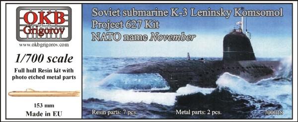 OKBN700018   Soviet submarine K-3 Leninsky Komsomol, project 627 Kit (NATO name November) (thumb11170)