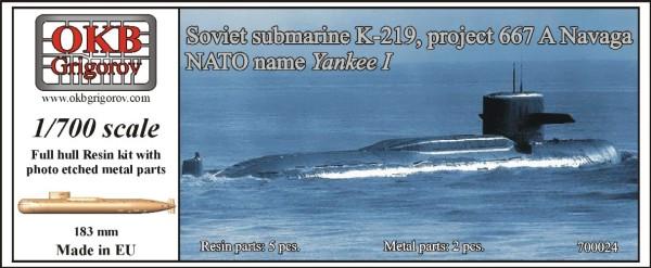 OKBN700024   Soviet submarine K-219, project 667 A Navaga (NATO name Yankee I) (thumb11205)