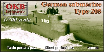 OKBN700058   German submarine Type 205 (thumb11306)