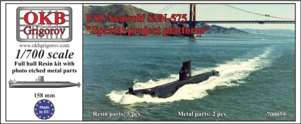 """OKBN700059   USS Seawolf SSN-575, """"Special project platform"""" (thumb11309)"""