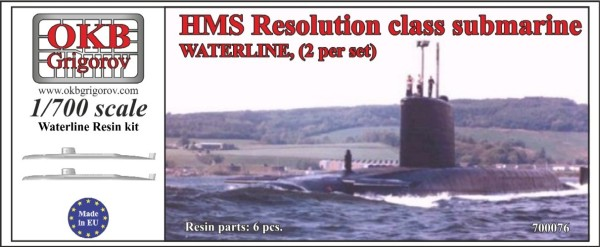 OKBN700076   HMS Resolution class submarine,WATERLINE, (2 per set) (thumb11352)