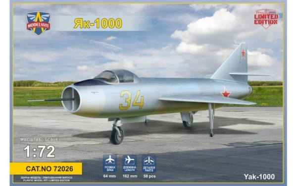 MSVIT72026   Yakovlev Yak-1000 Soviet supersonic demonstrator (thumb9359)