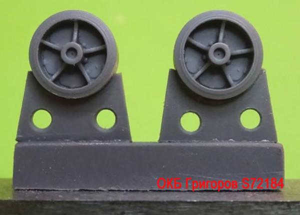 OKBS72184 Катки для семейства танков M4           Wheels for M4 family, VVSS open spoke with TB ORD 22 applied (thumb8741)
