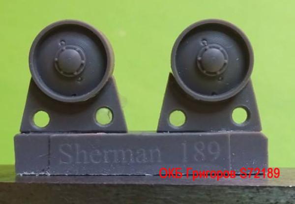 OKBS72189 Ленивец для семейства танков M4             Idler wheels for M4 family, VVSS solid (12 per set) (thumb8751)