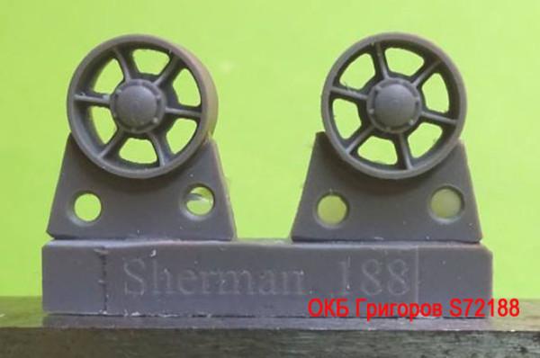 OKBS72188 Ленивец для семейства танков M4                 Idler wheels for M4 family, VVSS open spoke (12 per set) (thumb8749)