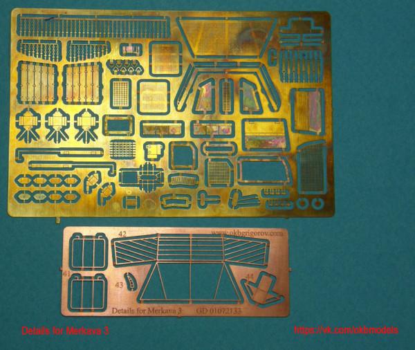 OKBP72009   Фототравление набор для танка Merkava 3          PE detail for Merkava 3 (Revell) (без юбок) (thumb8451)
