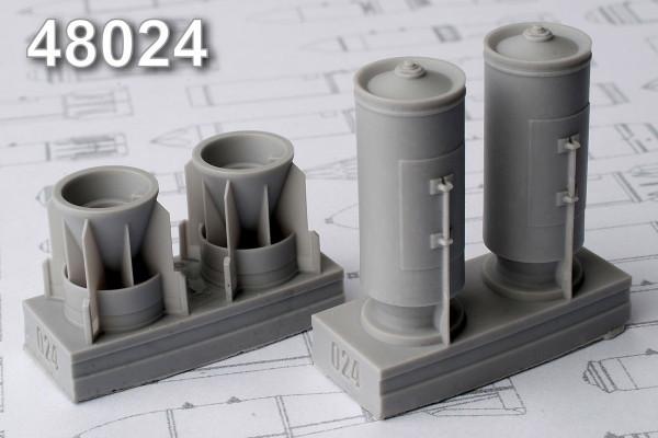 АМС 48024   РБК-500 ШОАБ-05 разовая  бомбовая кассета снаряженная шариковыми осколочными авиабомбами (в комплекте две кассеты). (thumb10273)