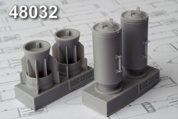 АМС 48032   ЗАБ-500Ш зажигательная авиабомба калибра 500 кг без носового конуса (в комплекте две бомбы). (thumb10283)