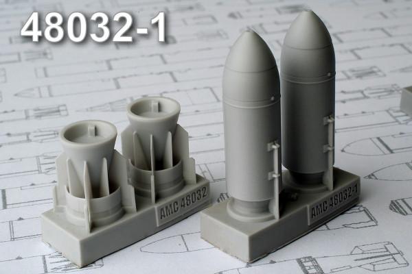 АМС 48032-1   ЗАБ-500Ш зажигательная авиабомба калибра 500 кг с носовым обтекателем (в комплекте две бомбы). (thumb10285)