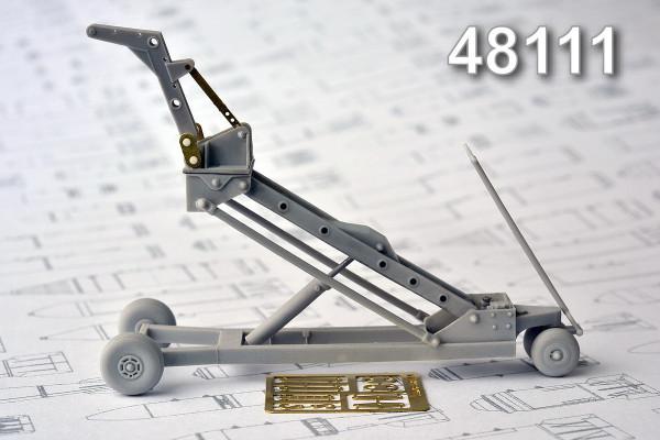 АМС 48111   Кран-тележка с гидроподъемником для подвески  авиабомб калибром до 500 кг (thumb10357)