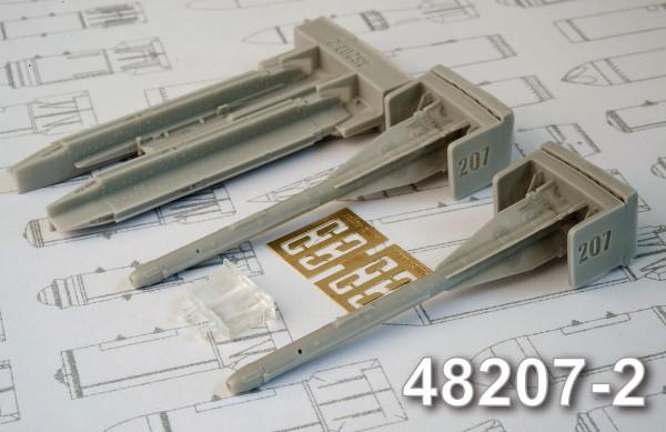 АМС 48207-2   Р-60 авиационная управляемая ракета класса «Воздух-воздух» с пусковым устройством П-62-2 (в комплекте две ракеты и П-62-2). (thumb10325)