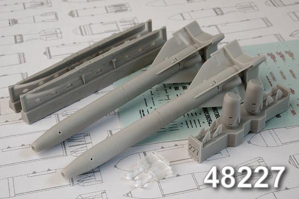 АМС 48227   Х-25 «изделие 69»  Авиационная управляемая ракета класса «Воздух-поверхность» (в комплекте две ракеты Х-25 с АПУ-68УМ2). (thumb10327)