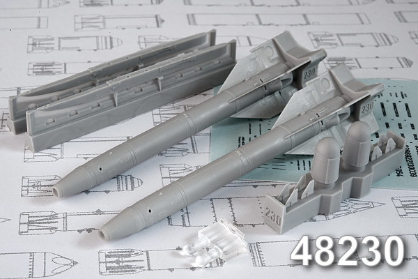 АМС 48230   Х-25МЛ «изделие 713»  Авиационная управляемая ракета класса «Воздух-поверхность» (в комплекте две ракеты Х-25 с АПУ-68УМ2). (thumb10333)
