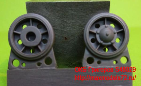 OKBS48029   Ленивец для танка Т-34 модель 1940 года с резиновым бандажом (8 шт в наборе)                 Idler wheel for T-34 mod.1940, with rubber bandage (8 per set) (thumb8372)