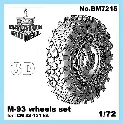 BM7215   Колеса M-93 для модели ЗИЛ-131 от ICM       M-93 wheels set for ICM Zil-131 kit (thumb8831)
