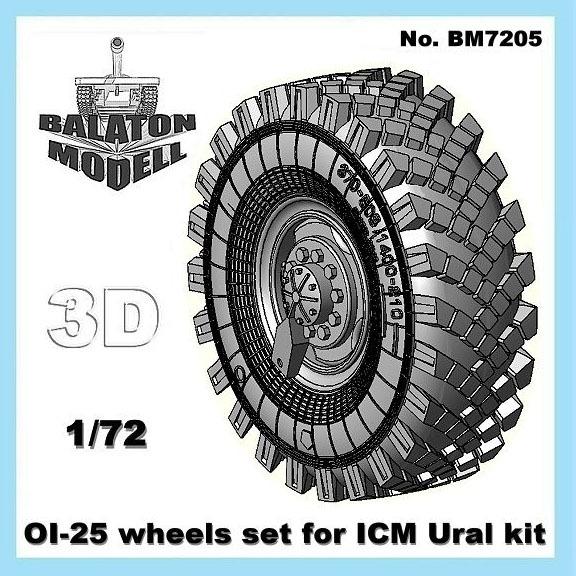 BM7205   Колеса ОИ-25 для модели Урал от ICM        OI-25 tires for ICM Ural kit (thumb8798)