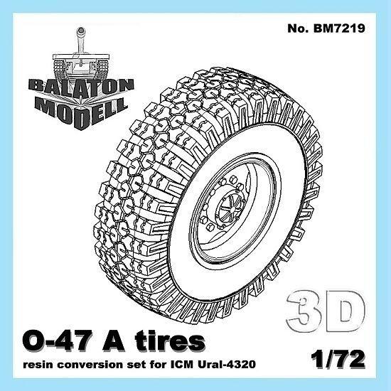 BM7219   Колеса O-47 для модели Урал-4320 от ICM     O-47 tires for ICM Ural-4320 (thumb8842)