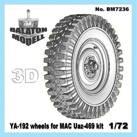 BM7236   Колеса Я-192 для модели УАЗ-469       YA-192 wheels for MAC Uaz-469 kit (thumb8887)
