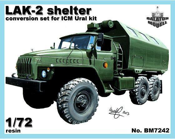 BM7242   Конверсионный набор LAK-2 (будка) для модели УРАЛ-375/4320       LAK-2 shelter for Ural-375/4320 kit (thumb8921)