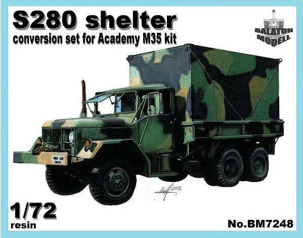 BM7248   Конверсионный набор S-280 (будка) для модели M35 от Academy       S-280 shelter for Academy M35 kit (thumb8939)