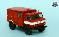 BM7237   ГАЗ-66 пожарная машина         Gaz-66 fire fighting vehicle (attach2 8889)