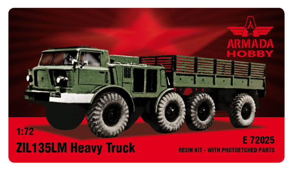 AME72025    ZIL-135 8 wheeled heavy truck and prime mover Resin kit w. PE set (thumb9481)
