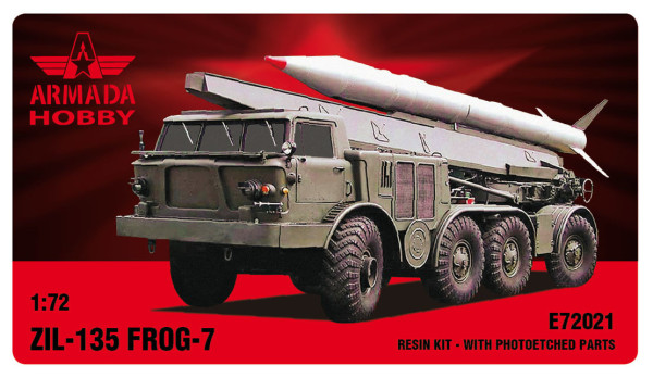 AME72021   ZIL-135 FROG-7 (LUNA) 8 wheeled missile launcher Resin kit w. PE set (thumb9473)