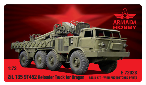AME72023   ZIL-135 9T422 Reloader-truck for URAGAN Resin kit w. PE sets (thumb9477)