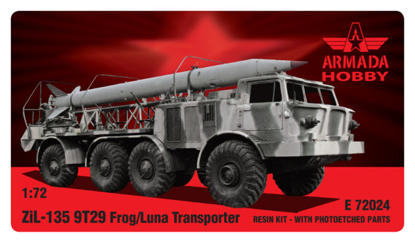 AME72024   ZIL-135 9T29 Reloader-truck for FROG (LUNA) with 3 missile Resin kit w. PE sets (thumb9479)