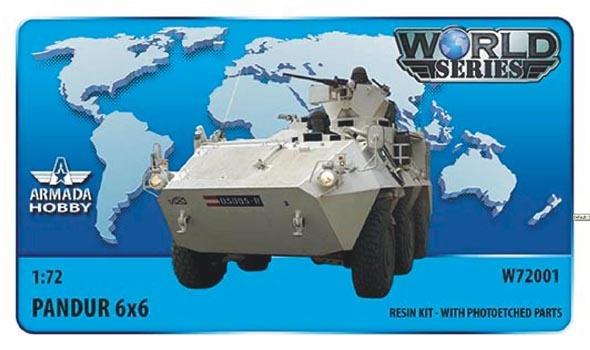 AMW72001   Austrian 6x6 APC Pandur Resin kit w. PE set (thumb9591)