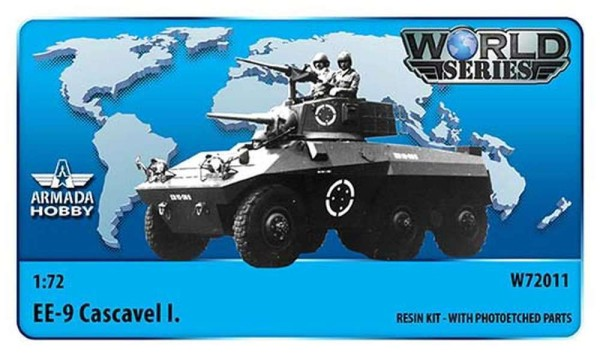 AMW72011   Brazilian 6x6 Armoured Car EE-9 Cascavel I. Resin kit w. PE set (thumb9611)