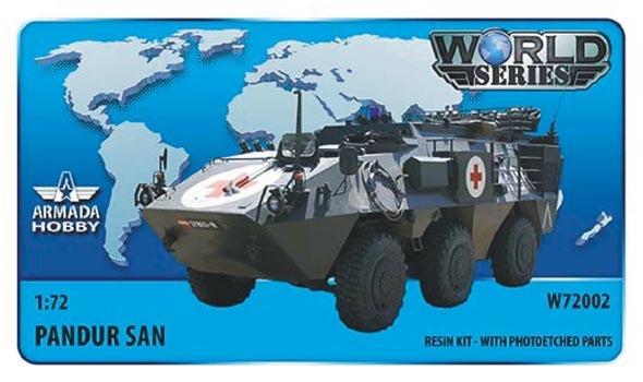 AMW72002   Austrian 6x6 APC Pandur SAN (Ambulance Version) Resin kit w. PE set (thumb9593)