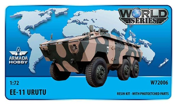 AMW72006   Brazilian 6x6 APC EE-11 URUTU w. Armoured Cab & Turret (Haiti) Resin kit w. PE set (thumb9601)