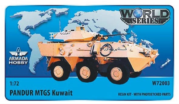 AMW72003    Austrian 6x6 APC Pandur MTGS (Kuwait) Resin kit w. PE set (thumb9595)