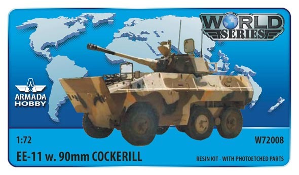 AMW72008   Brazilian 6x6 APC EE-11 URUTU w. 90mm Cockerill Turret Resin kit w. PE set (thumb9605)