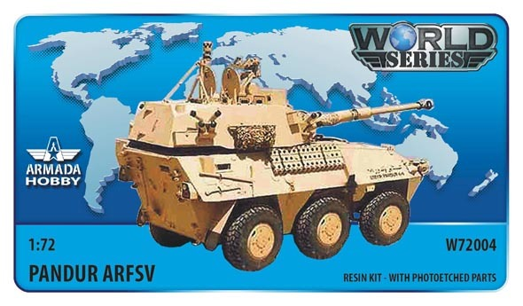 AMW72004   Austrian 6x6 APC Pandur ARFSV 90mm (Kuwait) Resin kit w. PE set (thumb9597)