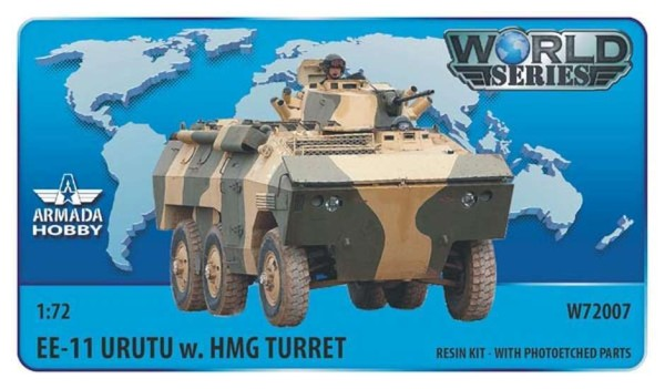 AMW72007   Brazilian 6x6 APC EE-11 URUTU w. HMG Turret Resin kit w. PE set (thumb9603)