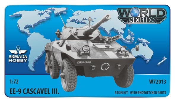 AMW72013   Brazilian 6x6 Armoured Car EE-9 Cascavel III. Resin kit w. PE set (thumb9615)