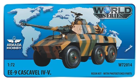 AMW72014    Brazilian 6x6 Armoured Car EE-9 Cascavel IV. Resin kit w. PE set (thumb9617)