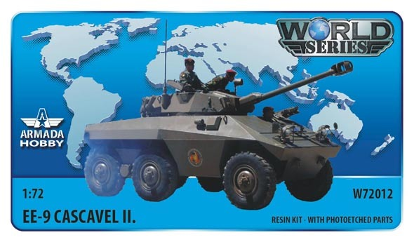 AMW72012   Brazilian 6x6 Armoured Car EE-9 Cascavel II.Resin kit w. PE set (thumb9613)