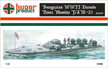 HP72098   PAM-21 Danube River Monitor WWII. (thumb9842)