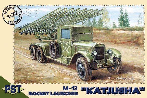 "PST72018   М-13(ЗиС-6) Катюша         M-13 Rocket Launcher ""Katjusa"" on Zis-6 (thumb10064)"
