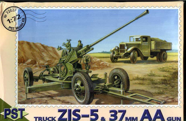 PST72028   61-К/ЗиС-5            61-K 37mm AA gun with Zis-5 Truck (thumb10082)