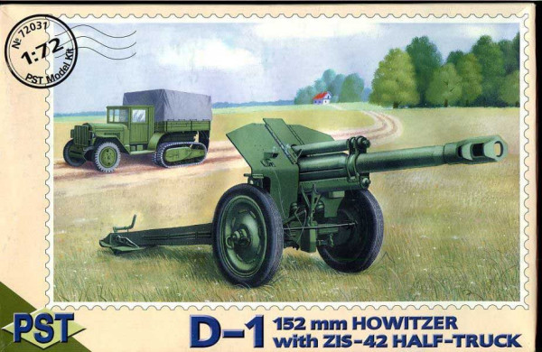PST72031   Д-1/ЗиС-42           D-1 152mm Howitzer with Zis-42 Half-Track (thumb10088)
