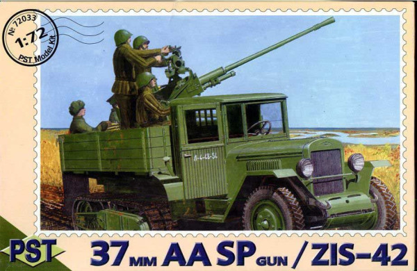 PST72033   61-К/ЗиС-42     61-K 37mm AA SPG on base of Zis-42 Halftrack (thumb10092)