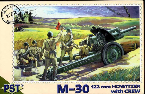 PST72040   М-30 с расчетом        M-30 122mm Howitzer with Crew (thumb10106)