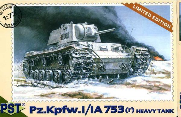 PST72036   Pz.Kpfw. 753 ( r )         Pz.Kpfw. 1/1A753(r) Heavy Tank German (thumb10098)
