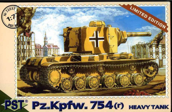 PST72037   Pz.Kpfw.754 ( r )         KV-2 in German service (thumb10100)