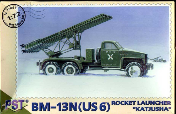 "PST72041   БМ-13Н(US6)        BZ-13N - Rocket Launcher ""Katjusa"" based on US6 Studebaker (thumb10108)"