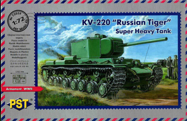 "PST72059   КВ-220         KV220/85 Russian ""Tiger"" Heavy Tank (thumb10144)"
